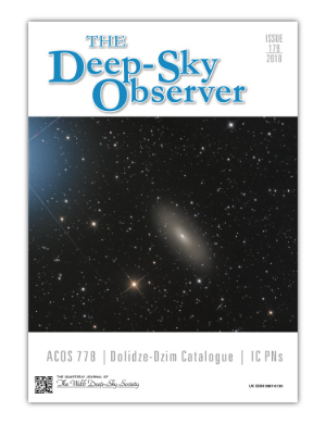 The Deep-Sky Observer 179 Cover