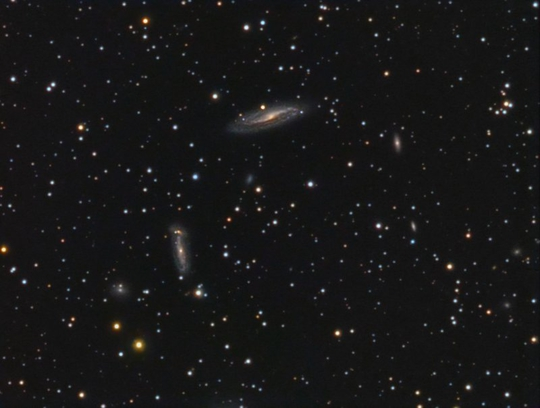 ngc 6928 group of galaxies in delphinus - image courtesy of jim shuder