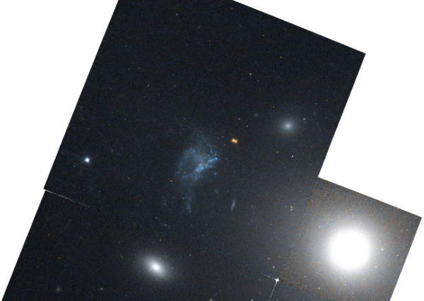 Hubble Space Telescope (HST) image of Minkowski's object