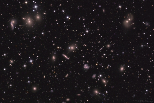 hercules galaxy cluster - image courtesy of russell croman