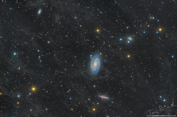M81, M82 and the Integrated Flux Nebula (IFN) in the Constellation of Ursa Major  - Image Courtesy of Terry Hancock of Downunder Observatory