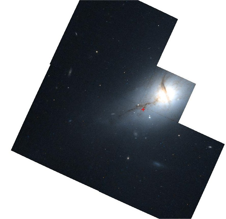 Hubble Space Telescope (HST) image of NGC3801 showing dust clouds