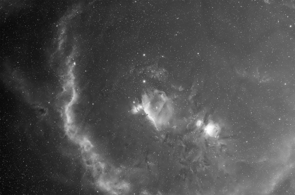 Barnard's Loop (Sh 2-276): dust and star formation in Orion courtesy of Don Goldman