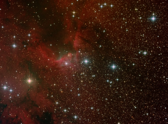 The Cave Nebula (Sh2-155) with a 10 inch newtonian - Image Courtesy of David Davies