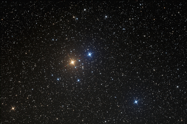 An image of open cluster Stephenson 1 provided by Gregg Ruppel