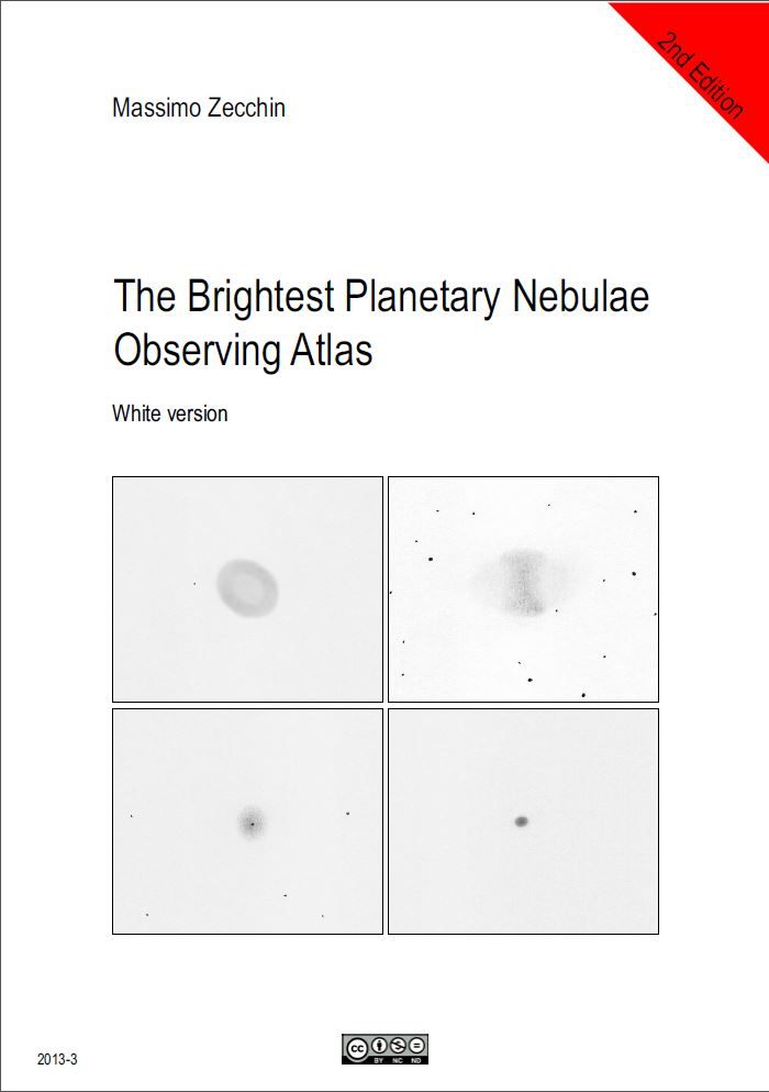 The Brightest Planetary Nebulae Observing Atlas (2nd Ed) White - Courtesy of Massimo Zecchin