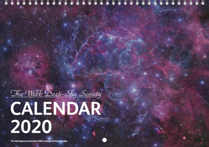 Cover of the 2020 Webb Deep-Sky Society Calendar