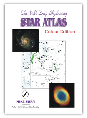 Cover of the Webb Deep–Sky Society Colour Star Atlas