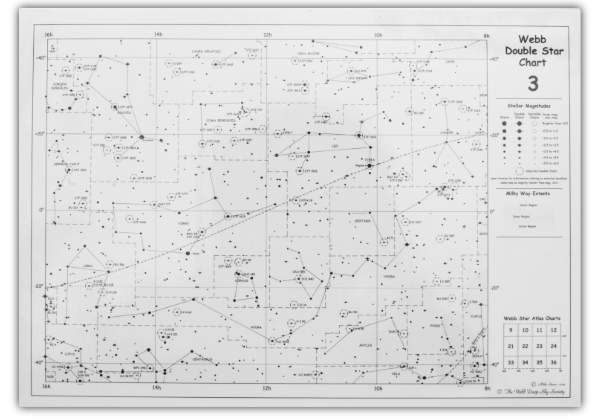 Sample of the front of Double Star Chart 3